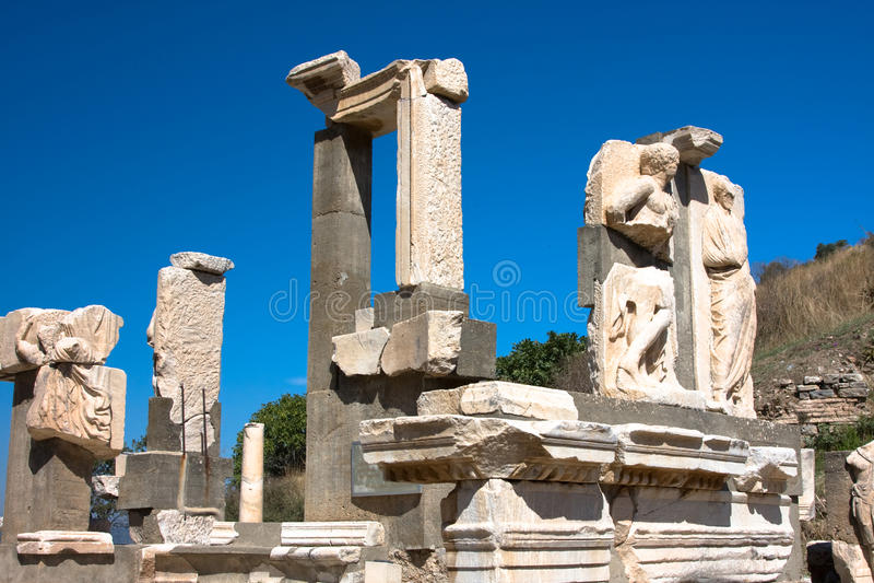 Ruïnes van oude Ephesus royalty-vrije stock afbeeldingen