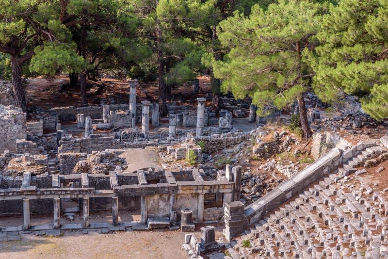 Ruïnes van Oude Griekse Stad van Priene royalty-vrije stock foto