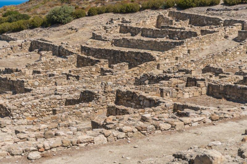 Ruïnes van Oude Kamiros royalty-vrije stock fotografie