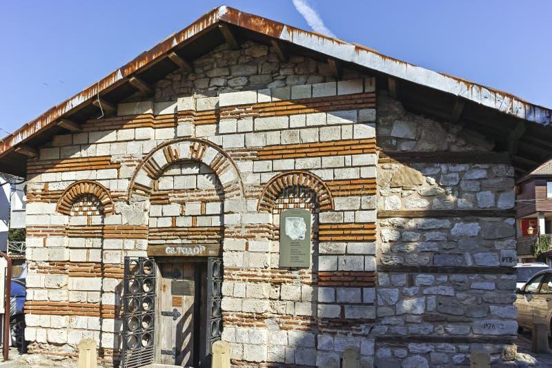 Ruïnes van Oude Kerk van St Theodorus II in de stad van Nessebar, Bulgarije stock fotografie
