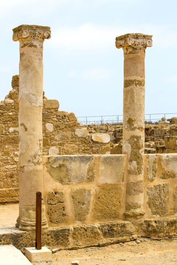 Ruïnes van oude Paphos royalty-vrije stock foto