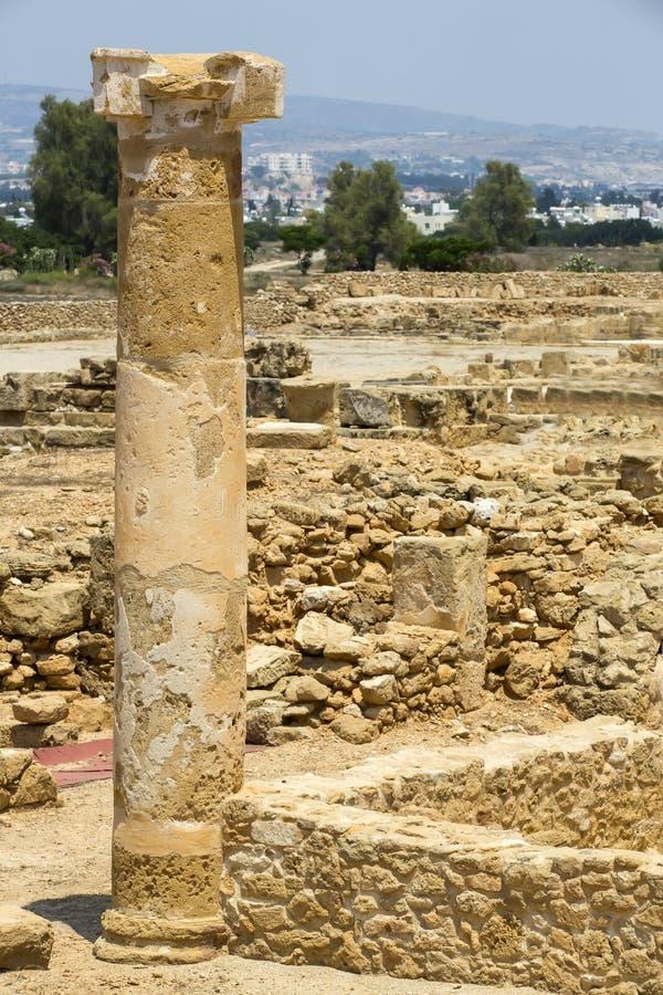 Ruïnes van oude Paphos stock foto's