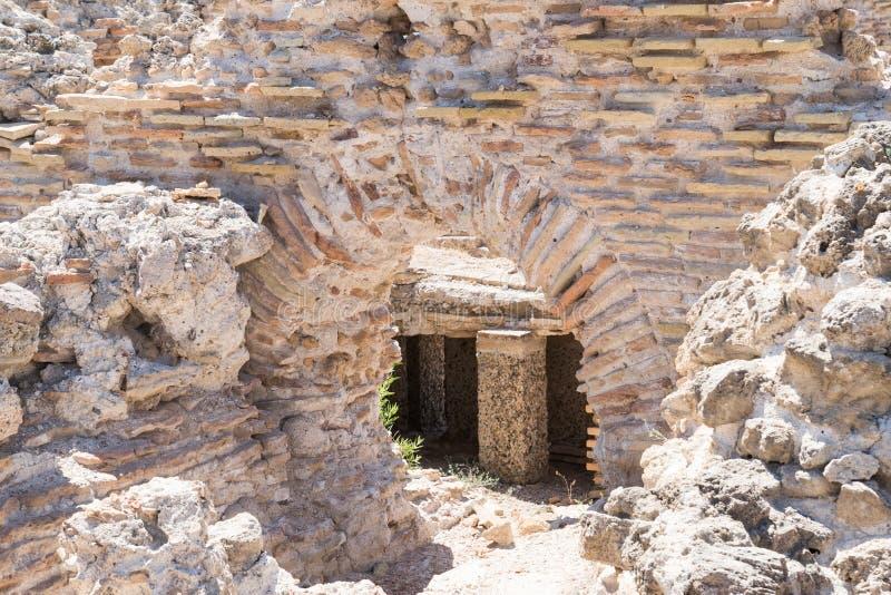 Ruïnes van oude Roman stad stock afbeeldingen