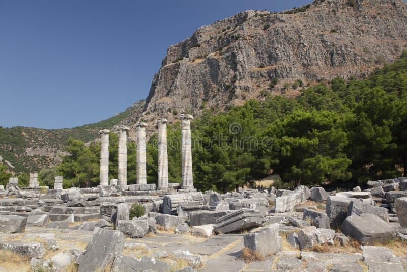 Ruïnes van oude stad stock afbeelding