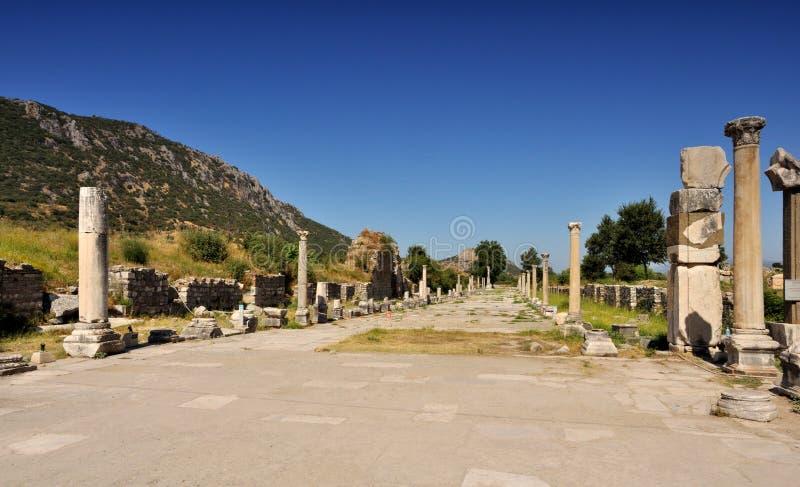 Ruïnes Van Oude Stad - Ephesus In Turkije Stock Fotografie