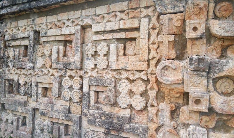 Ruïnes van oude stad van Uxmal stock foto