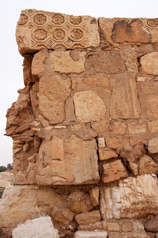 Ruïnes van oude stad van Palmyra - Syrië stock foto