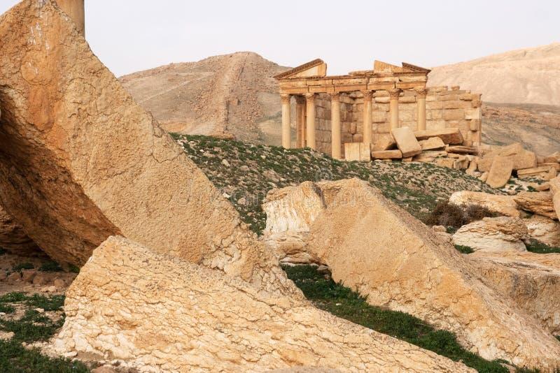 Ruïnes van oude stad van Palmyra - Syrië royalty-vrije stock afbeeldingen