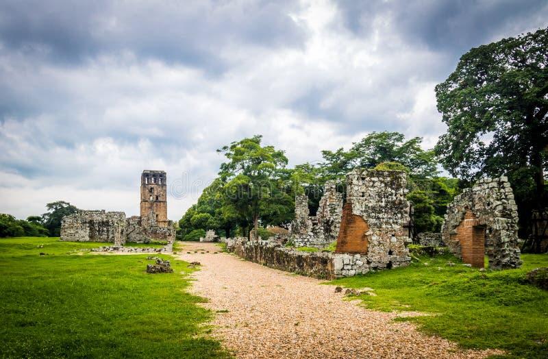 Ruïnes van Panama Viejo - de Stad van Panama, Panama royalty-vrije stock afbeeldingen