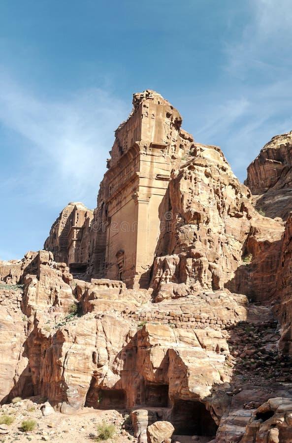 Ruïnes van Petra royalty-vrije stock afbeelding