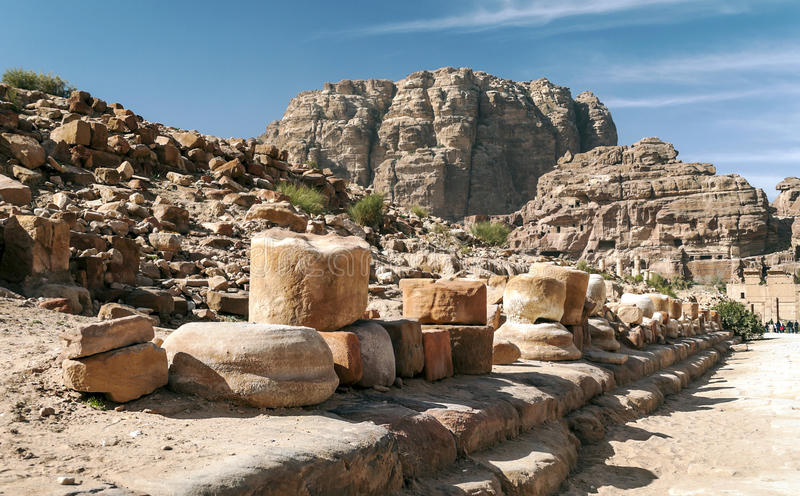Ruïnes van Petra stock foto
