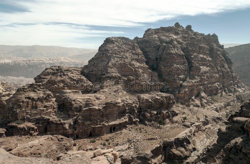 Ruïnes van Petra royalty-vrije stock fotografie