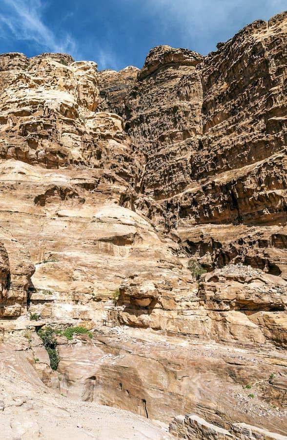 Ruïnes van Petra stock afbeelding