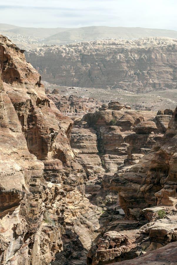 Ruïnes van Petra stock foto's