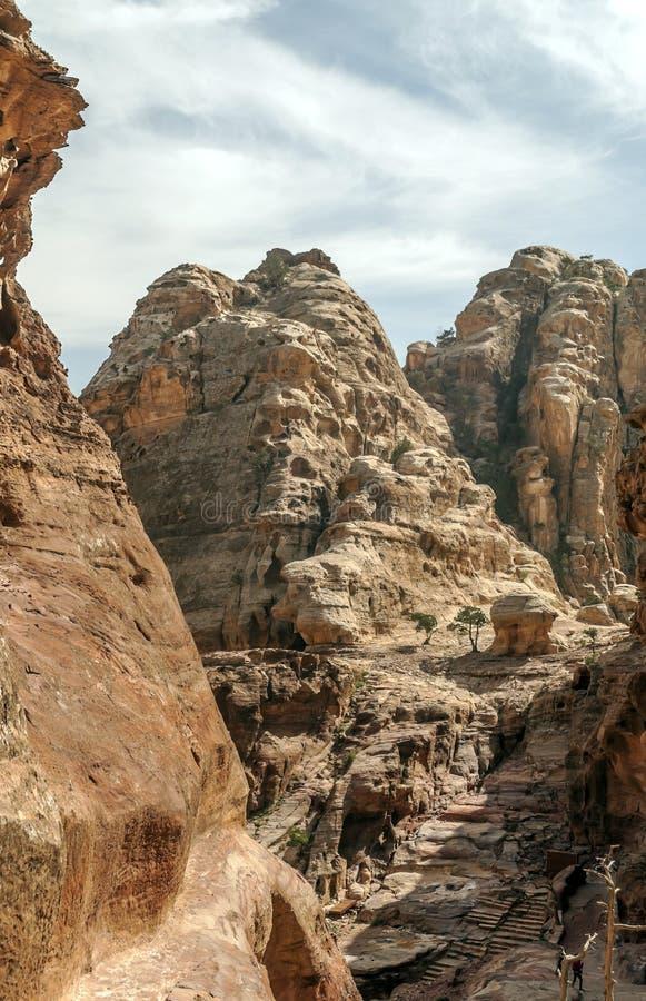Ruïnes van Petra royalty-vrije stock foto