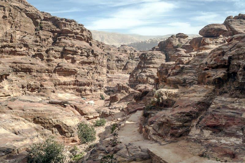Ruïnes van Petra stock fotografie