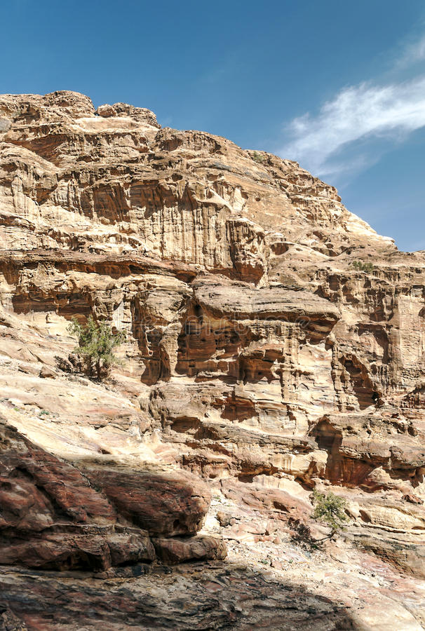Ruïnes van Petra royalty-vrije stock foto's