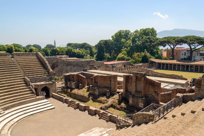 Ruïnes van Pompei stock foto's