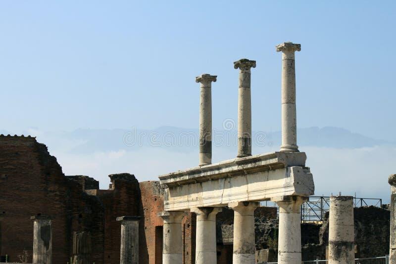 Ruïnes van Pompei De oude Roman stad in Italië stierf aan uitbarsting van de Vesuvius stock afbeelding