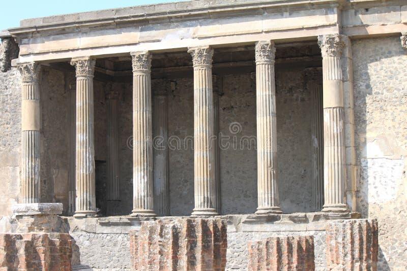 Ruïnes van Pompei De oude Roman stad in Italië stierf aan uitbarsting van de Vesuvius royalty-vrije stock afbeelding