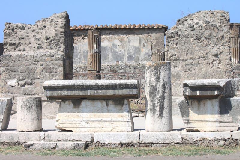 Ruïnes van Pompei De oude Roman stad in Italië stierf aan uitbarsting van de Vesuvius stock afbeeldingen