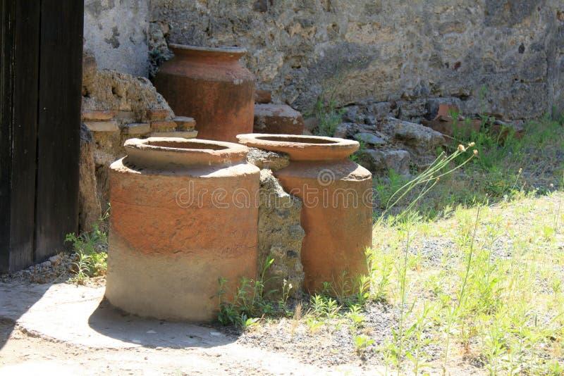 Ruïnes van Pompei De oude Roman stad in Italië stierf aan uitbarsting van de Vesuvius stock fotografie