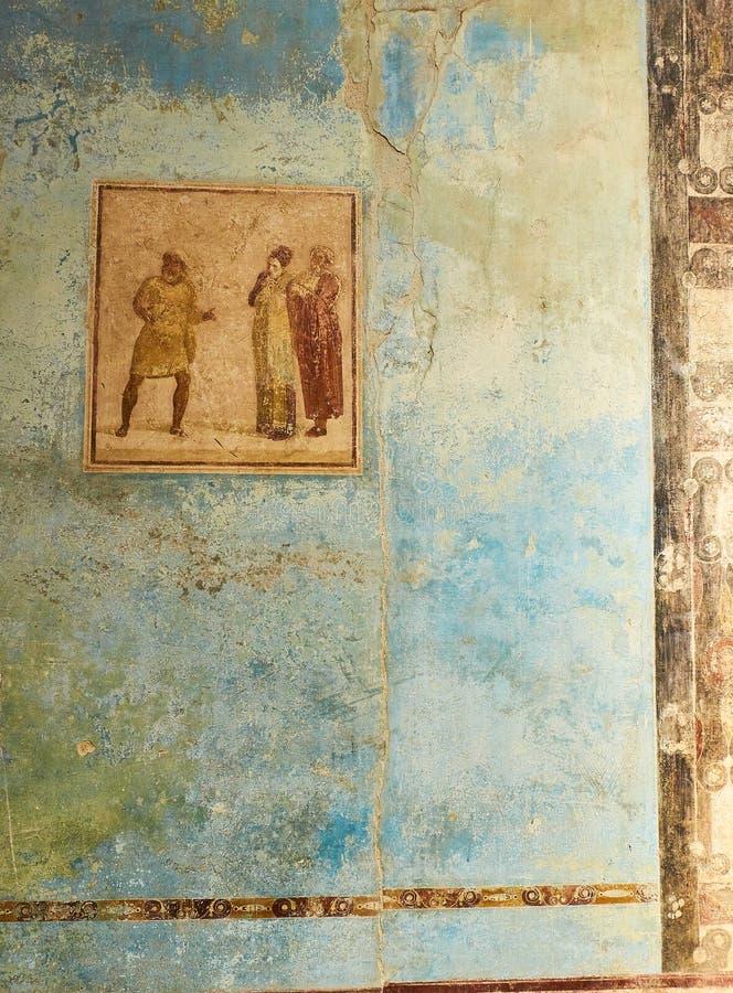 Ruïnes van Pompei, oude Roman stad Pompei, Campania Italië royalty-vrije stock afbeeldingen