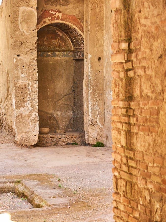 Ruïnes van Pompei, oude Roman stad Pompei, Campania Italië royalty-vrije stock foto's