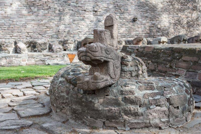 Ruïnes van pre-Spaans & x28; pre-Colombian& x29; pyramide geroepen Tenayuca royalty-vrije stock foto