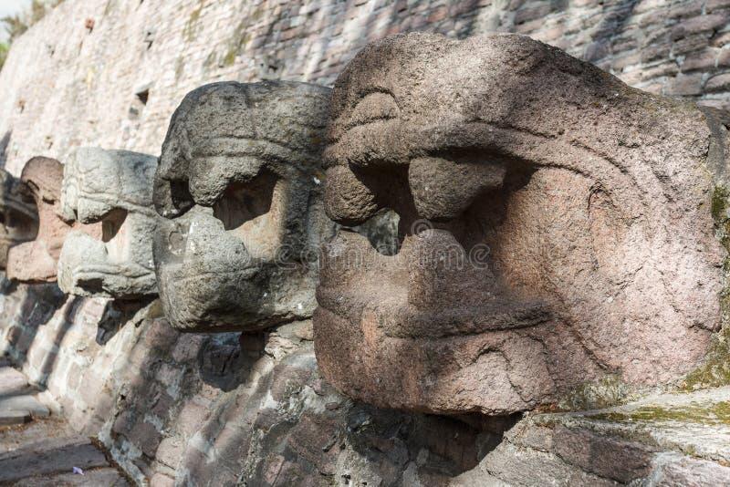 Ruïnes van pre-Spaans & x28; pre-Colombian& x29; pyramide geroepen Tenayuca royalty-vrije stock afbeelding