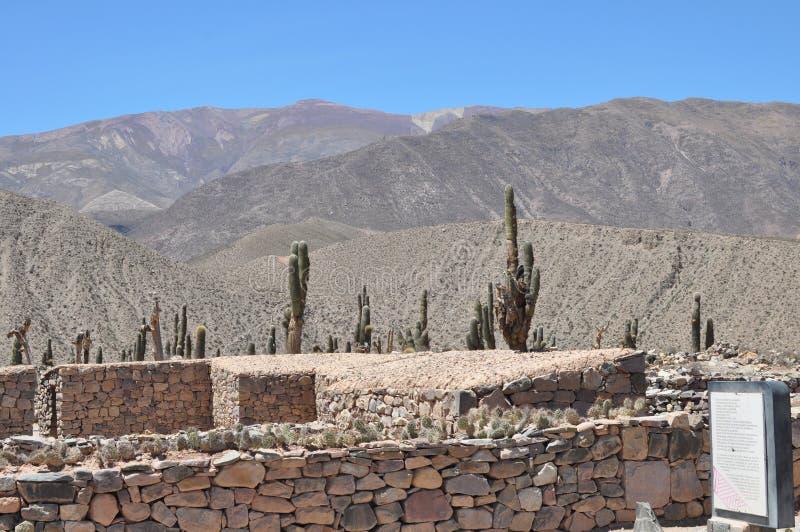 Ruïnes van Pucara DE Tilcara bij Jujuy-Provincie stock foto