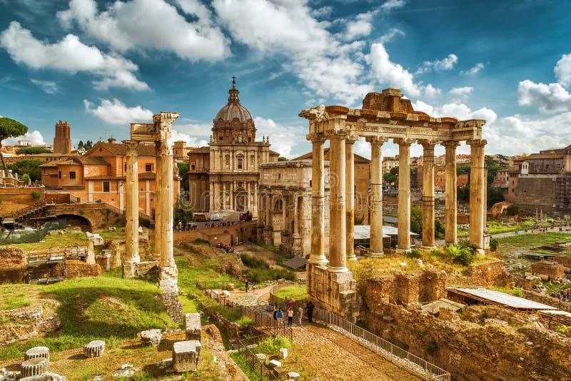 Ruïnes van Roman Forum, Rome royalty-vrije stock afbeeldingen