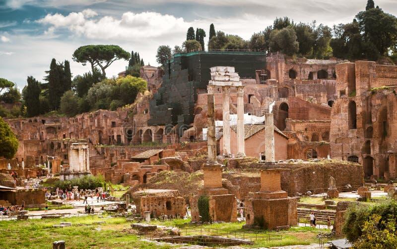 Ruïnes van Roman Forum, Rome royalty-vrije stock foto's