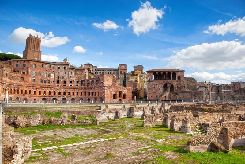 Ruïnes van Roman Forum in Rome royalty-vrije stock foto