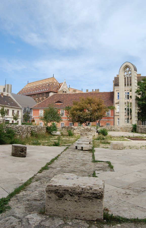 Ruïnes van St. Mary Magdalene stock foto's