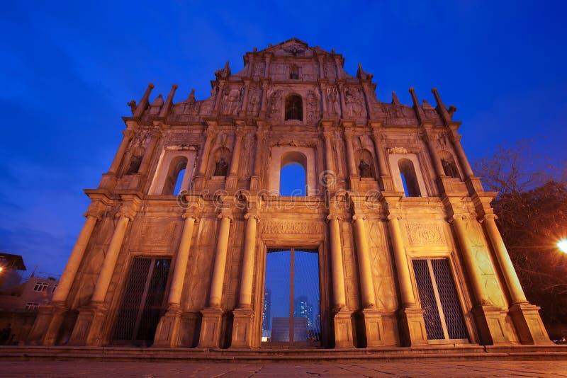 Ruïnes van St Paul Macao China royalty-vrije stock afbeelding