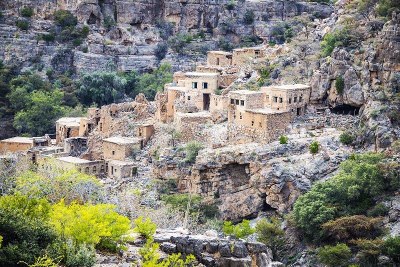 Ruïnes Wadi Bani Habib stock afbeelding