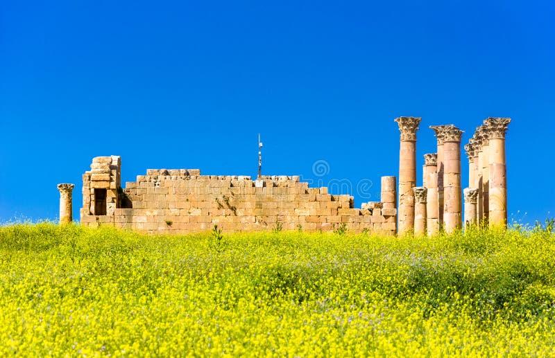 Ru?nas antigas e romanas de Jerash Gerasa, Jord?nia foto de stock