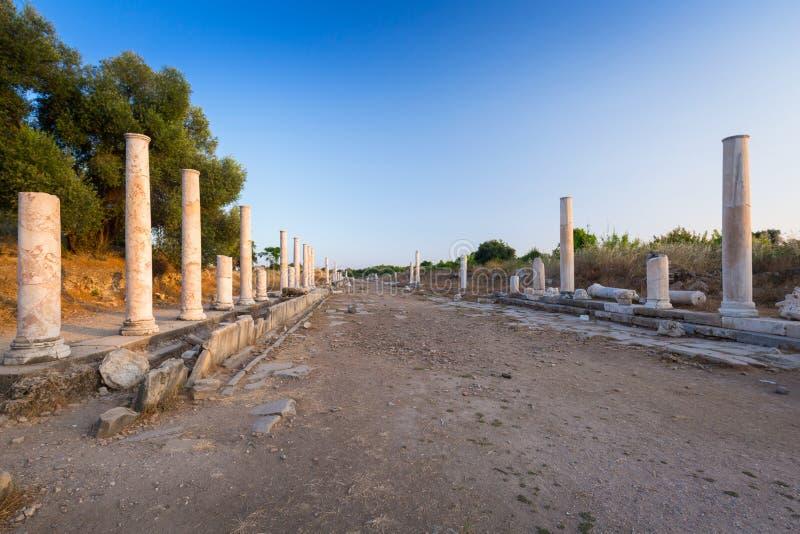 Ru?nes van de oude stad van Kant, Turkije royalty-vrije stock fotografie