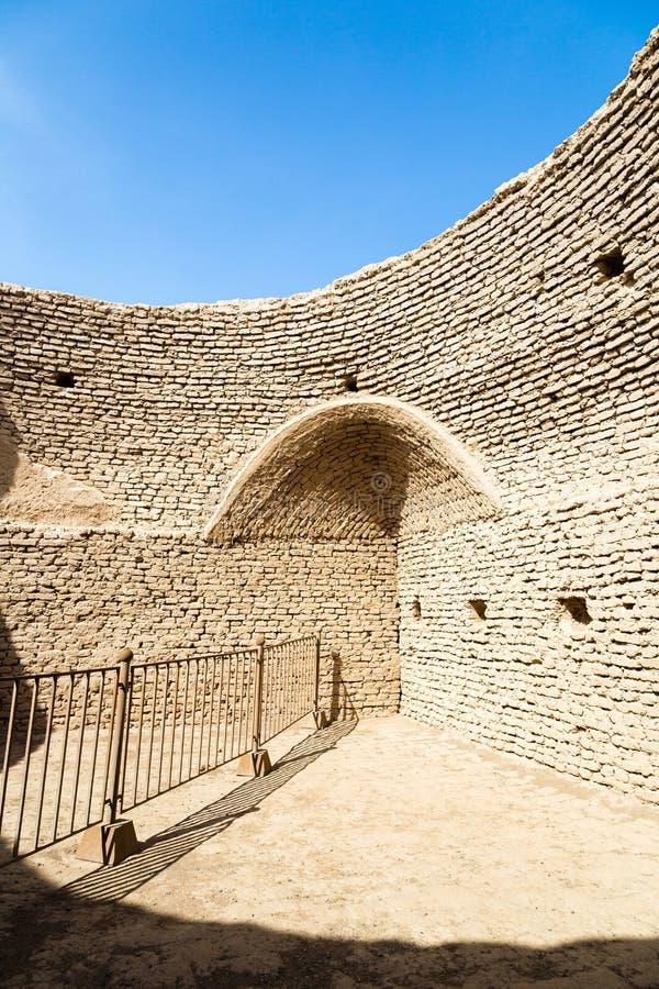 Ru?nes van Gaochang, Turpan, China Daterend meer dan 2000 jaar, zijn zij de oudste ru?nes in Xinjiang royalty-vrije stock fotografie