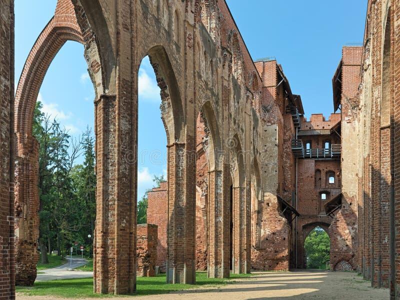 Ru?nes van Tartu-Kathedraal, Estland royalty-vrije stock foto's