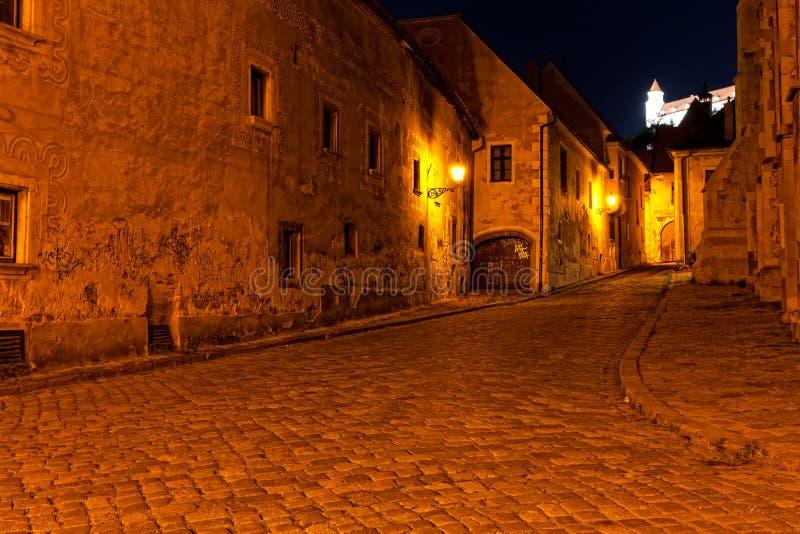 Rua abandonada de Bratislava foto de stock royalty free