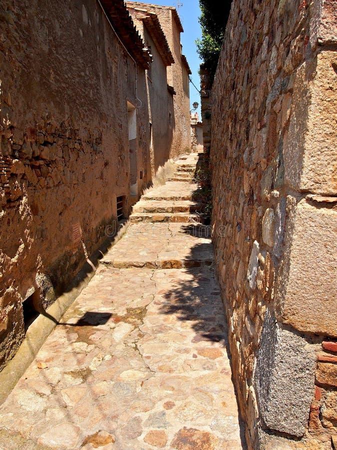 Rua antiga em Tosca del Mare fotografia de stock