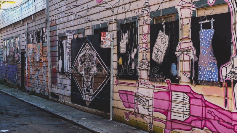 Rua Art San Francisco imagens de stock royalty free