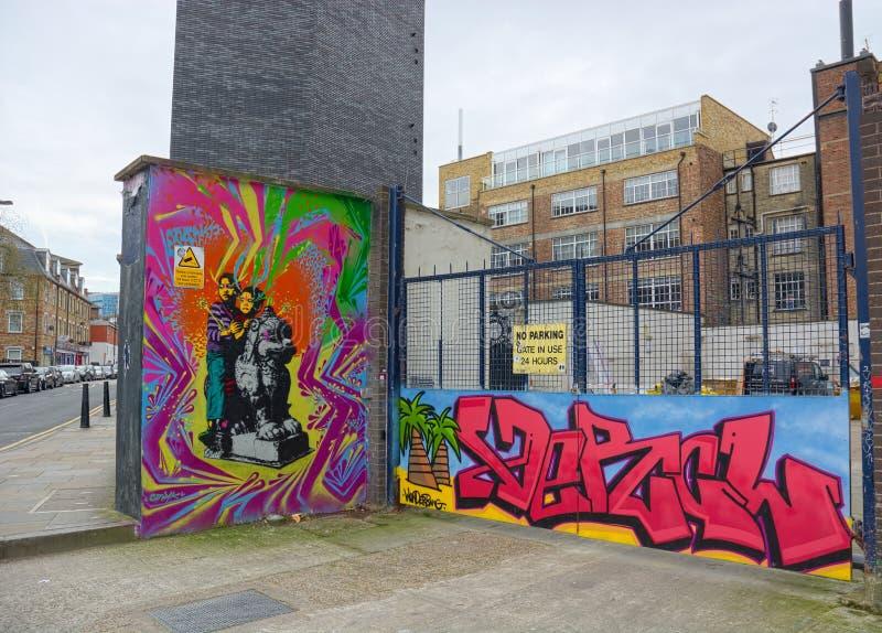 Rua Arte no Leste de Londres imagem de stock