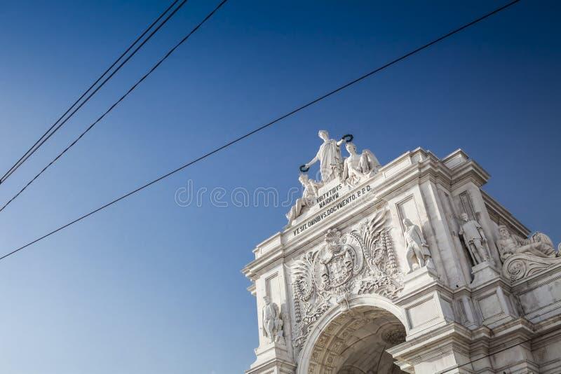 Rua Augusta Arch, Lisbona immagine stock