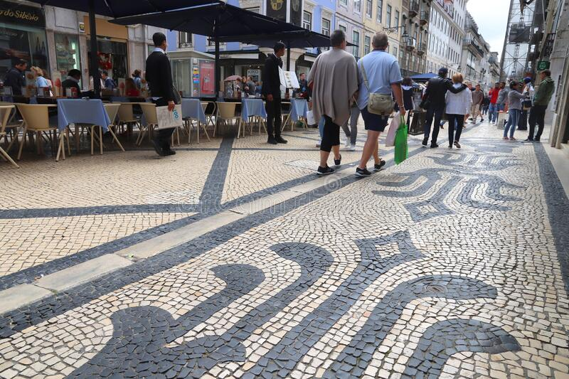 Rua Augusta in Lisbon stock images