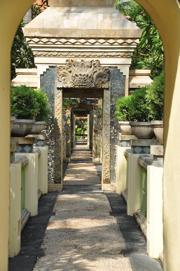 Rua bonita em Bali imagens de stock royalty free