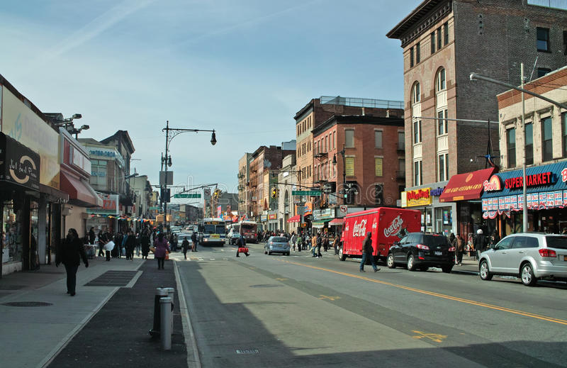 Rua Brooklyn New York de Fulton imagens de stock royalty free