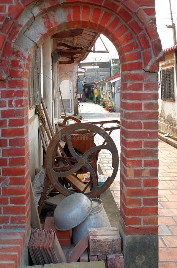 Rua chinesa velha da vila foto de stock